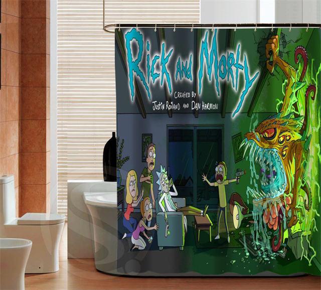 Fashion Bathroom Decor: Fashion Rick And Morty Custom Shower Curtain High Quality
