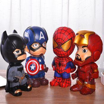 Супергерой, Бэтмен, Железный человек, Большая пластиковая Копилка, сейф, копилка, бутылка для монет, копилка для бумаги, копилка для детей