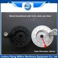 CNC Volante com Escala de Metal 10*10mm de Diâmetro 63mm terno para mesa de slides