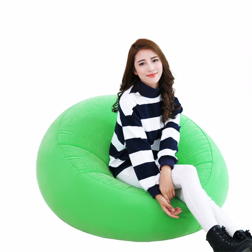 Big Inflatable Couch Bean Bag Chair Big Inflatable Seat Bearing 220lb For Adult