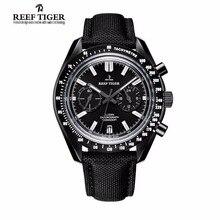 2017 Nouveau Récif Tigre/RT Designer Sport Montres avec Chronographe Date Veau Sangle En Nylon Super Lumineux Montre pour Hommes RGA3033