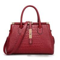 Imitation Leather Totes Women Alligator Pattern Dress Handbags Luxury Candy Color Messenger Bags Fashion Satchels Bolsa