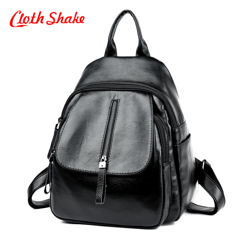 Cloth Shake Famous Teenage Backpack Fashion PU Soft Leather School Backpack Packet Restoring Leisure Backbag Lady Travelling Bag