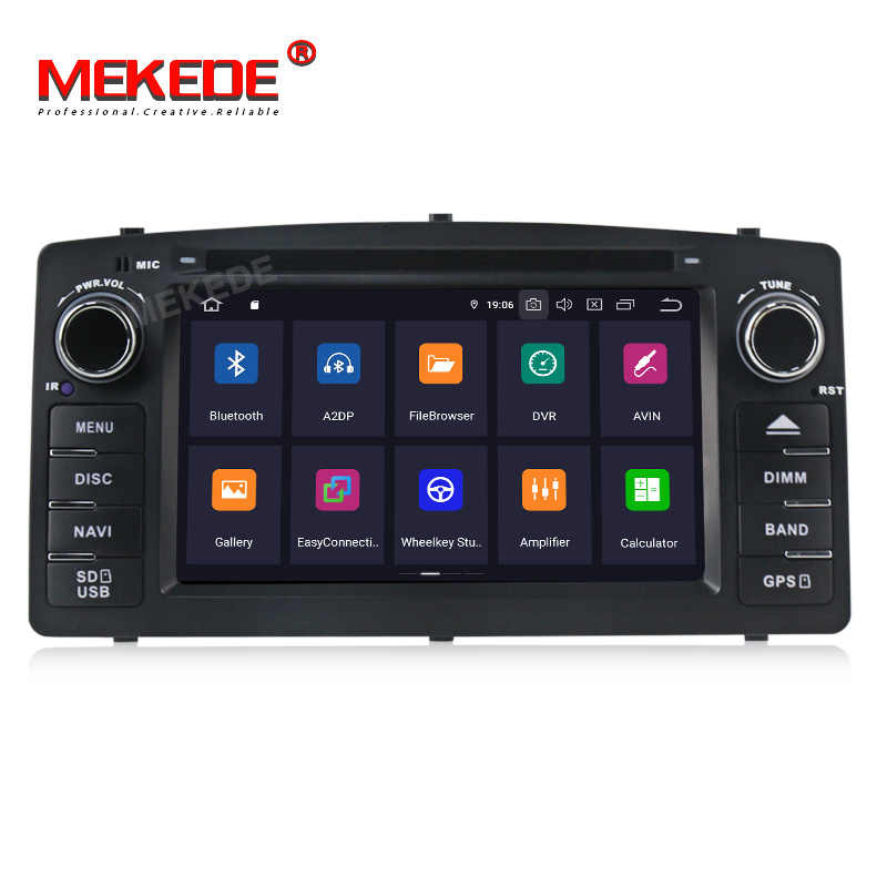 HD Android 9.0 2G DSP 2 din car DVD player For Toyota corolla E120 BYD F3 corolla ex GPS multimedia radio navigation screen