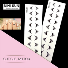 New Arrival Cuticle Temporary Tattoo Makeup Needles Nail Art  Edge Stickers Water Transfers French  Sticker Tattoo Beauty Finger