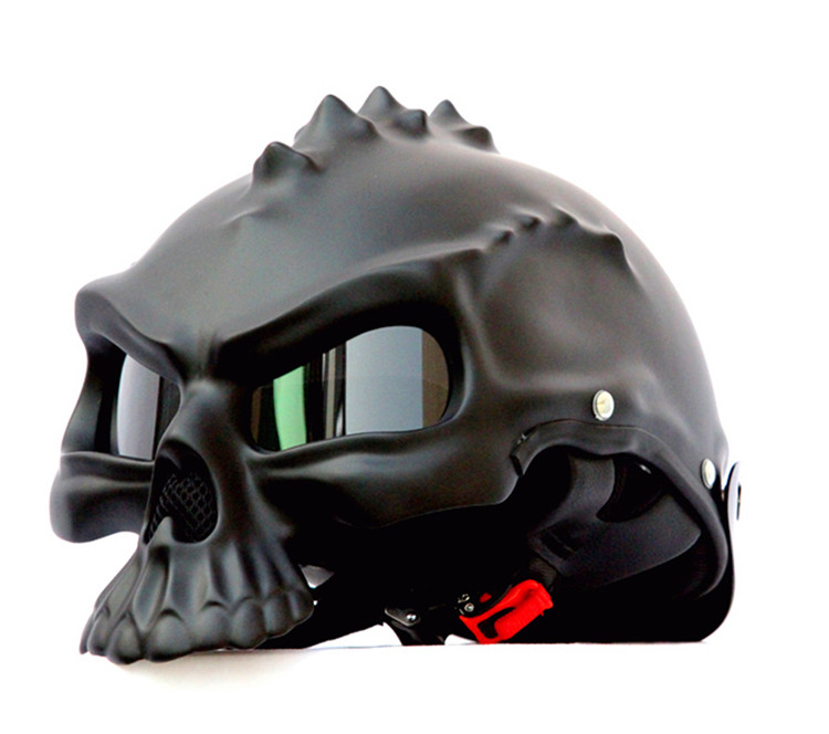 masei 489 Newest Dual Use Skull Motorcycle Helmet Capacetes Casco Novelty Retro Casque Motorbike Half Face Helmet free shipping skull motorcycle helmet capacetes casco novelty retro casque motorbike half face helmet motorcycle helmet for harley dot approve