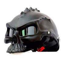 masei Newest Dual Use Skull Motorcycle Helmet Capacetes Casco Novelty Retro Casque Motorbike Half Face Helmet free shipping