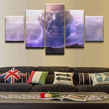 Canvas Pictures Home Decor HD Prints 5 Pieces Attack on Titan Colossal Paintings Animation Posters Wall Art Framework