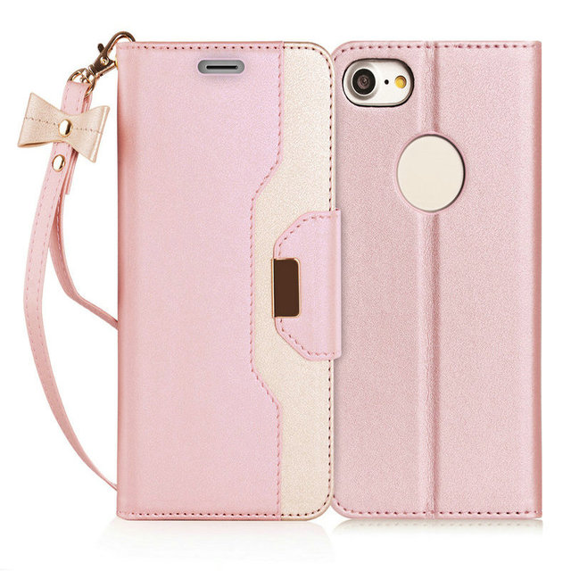 competitive price d0506 36825 US $13.99 |Fashion Phone Case For Apple iPhone 7/8 Leather Phone Bag BIG  Brand FYY Cute rose Gold Wallet Case Phone Protective bag-in Wallet Cases  ...