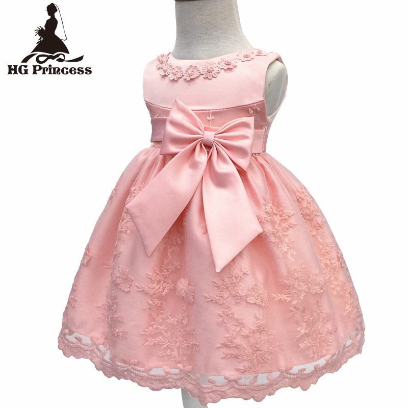 c4db0f303f903 US $21.8 |Free Shipping Cotton Lining Infant Dresses Lace 2018 New Arrival  Red Baby Dress For 1 Year Girl Birthday Bow Party Gown Toddler-in Dresses  ...