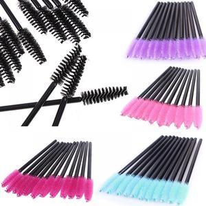 Image 5 - 50Pcs/Pack Disposable Micro Eyelash Brushes Mascara Wands Applicator Eyelash Comb Curler Beauty Makeup Tools
