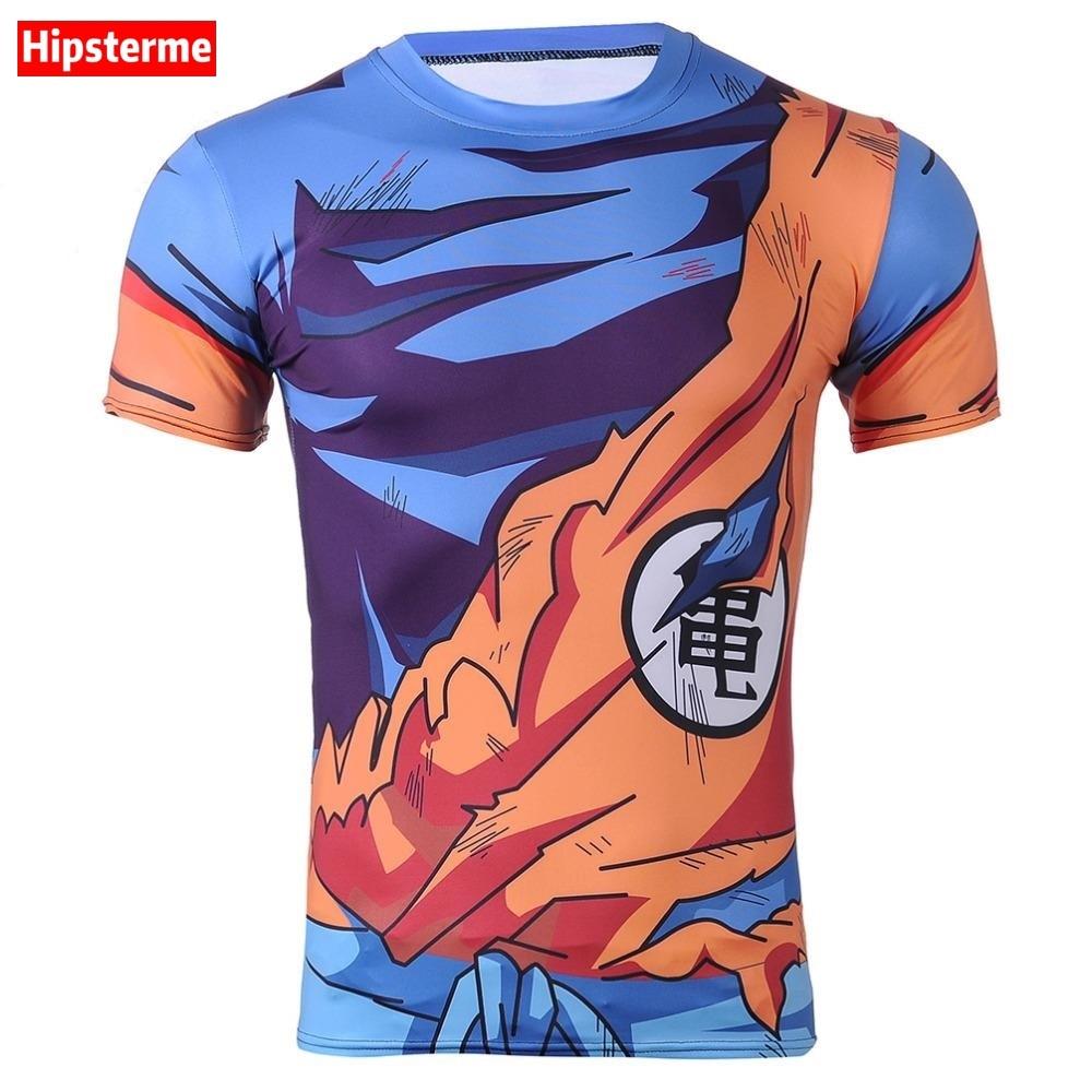 Hipsterme Ball Z Männer 3D Dragon Ball Z T-shirt Vegeta goku sommer...