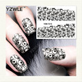 YZWLE 1 Sheet DIY Decals Nails Art Water Transfer Printing Stickers Accessories For Manicure Salon   YZW-7313