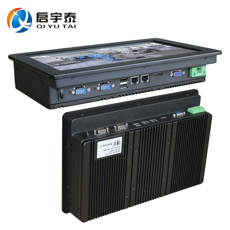Industrial computer with CPU Inter N2800 1.86GHz  touch screen 12 inch HDMI 2*RS232 dual RJ-45 the Resolution 1280x800 2GB DDR3