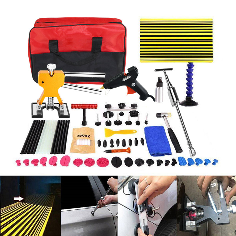 Car Body Repair Tools Paintless Repair Removal Tools Automotive Door Ding Dent Tool Kit Dent Remova Kit  Slide Hammer