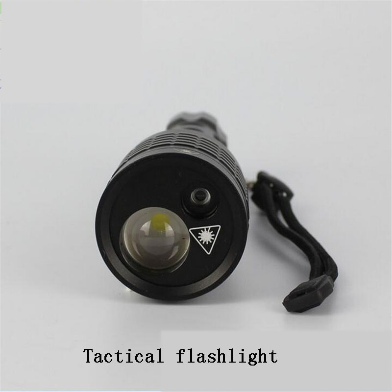66efa2d30d61f Powerful Rechargeable Super Bright Light And Green Laser 2 in 1 XML Cree T6  Waterproof LED Flashlight Torch With 18650 Battery