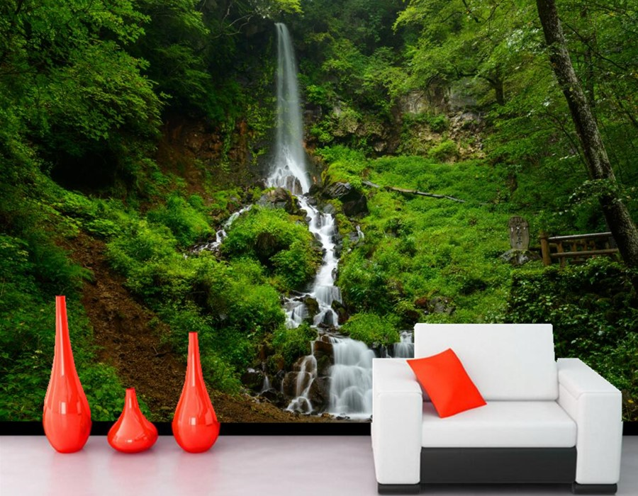 3d landscape wallpaper waterfalls grass nature wallpapers for 3d nature wallpaper for wall