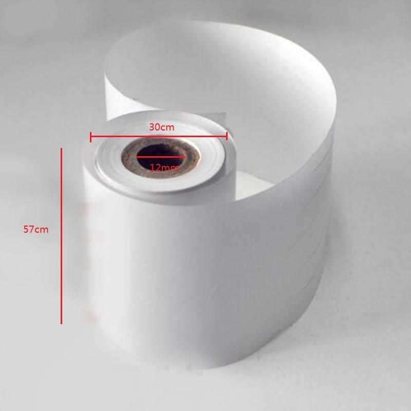 6 Rolls/set Office School Supplies Cash Register Paper Thermal Paper Roll 57x30mm Single Type 65g Paper POS Printer