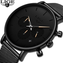 купить LIGE Watch Women And Men Watches Top Brand Luxury Famous Dress Fashion Watches Unisex Ultra Thin Wristwatch Relojes Para Hombre дешево