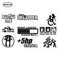HotMeiNi забавные виниловые наклейки для автомобиля Наклейка JDM Гоночный автомобиль грузовик задний бампер граффити