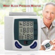 Автоматический цифровой ЖК-монитор артериального давления на запястье, забота о здоровье для измерения пульса и пульса DIA SYS, Прямая поставка
