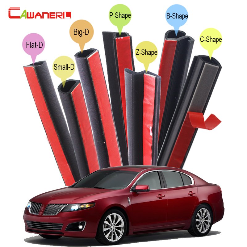 Cawanerl Whole Car Seal Sealing Strip Kit Sound Insulation Seal Edging Trim Rubber Weatherstrip For Lincoln Continental LS MKS cawanerl whole car seal sealing strip kit sound insulation seal edging trim rubber weatherstrip for lincoln continental ls mks