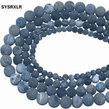 New Natural Stone Frost Crab Black Agate Round Loose Beads 6/ 8/ 10/ 12 MM Pick Size For Jewelry Making DIY Bracelet Necklace