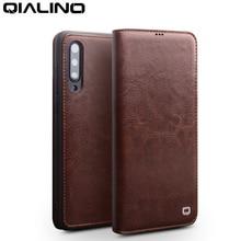 QIALINO หนังแท้ช่องใส่การ์ด Case สำหรับ Xiao mi mi 9 แฟชั่น Vintage โทรศัพท์ฝาครอบสำหรับ Xiao mi 9 6.39 นิ้ว