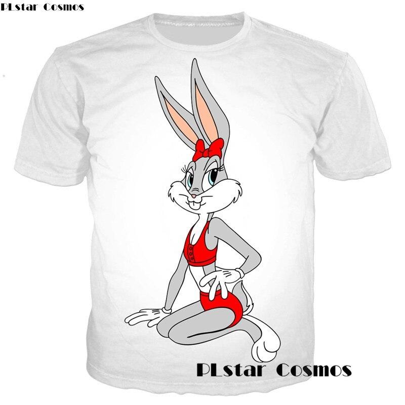 HTB1vP28oBDH8KJjSszcq6zDTFXaH - Men and Women's 2018 Style - Casual T-Shirts 3D Funny Cartoon Bugs Bunny Prints