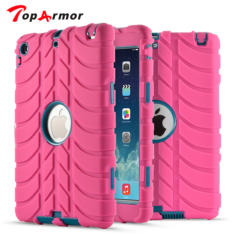 TopArmor Tablet Case For ipad mini 2 Tough Military Hard Rugged Anti Shock Proof Hard Armor Back Covers For Apple mini 1 2 3