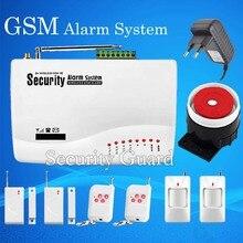 Бесплатная доставка беспроводной GSM домашняя охранная система безопасности 433 мГц беспроводной 2 шт. извещатель двери 2 шт. магнитный детектор