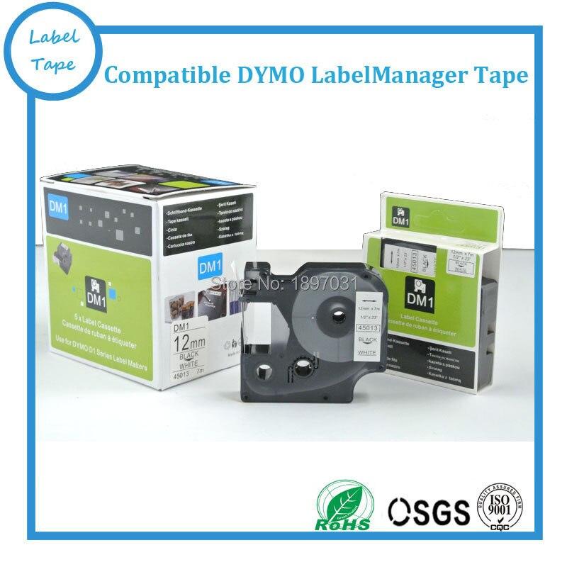 Free shipping 20 pcs DYMO D1 45013 12mm label tape DYMO tape cartridge dymo tape for