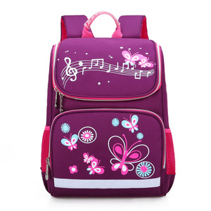 Image 2 - New Children School Bags Girls Butterfly School Backpack Kids Satchel Boy Car Knapsack Girl Backpack For School Space Bag