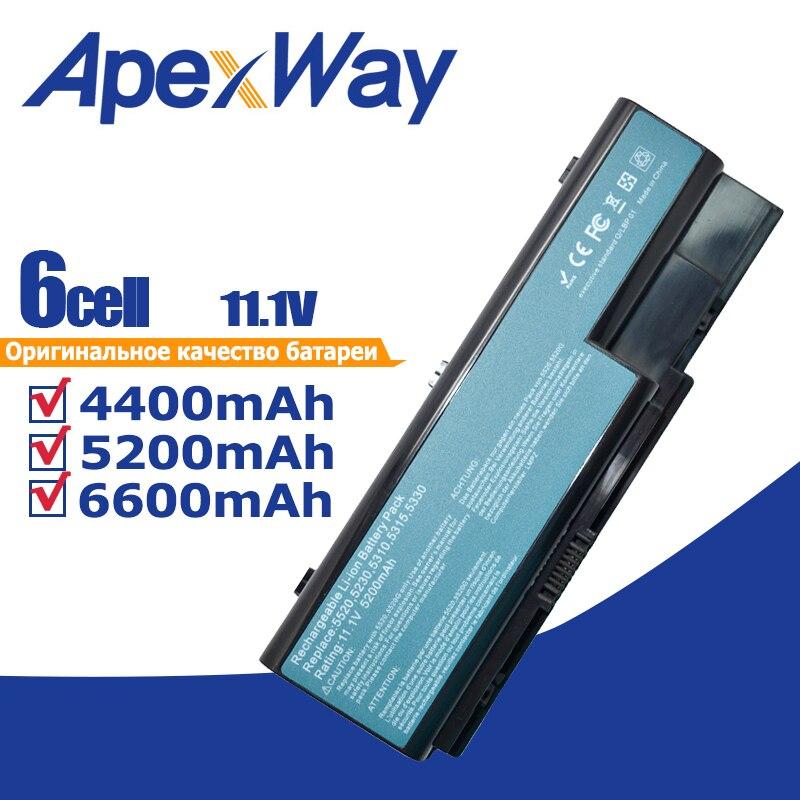 Batería para ordenador portátil, AS07B31 AS07B41 AS07B51 AS07B61 AS07B71 AS07B72 AS07B42 para Acer Aspire 5230, 5235, 5310, 5315, 5330, 5520, 5530 JIGU batería del ordenador portátil para Acer AS07B31 AS07B32 AS07B41 AS07B42 AS07B51 AS07B52 AS07B71 AS07B72 AS07B31 AS07B51 AS07B61