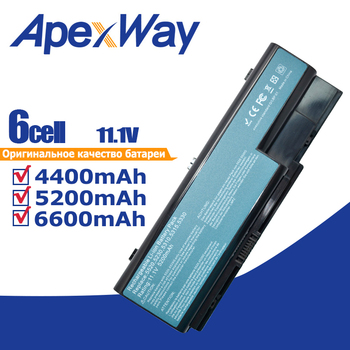 Batería para ordenador portátil, compatible con Acer Aspire 5230, 5235, 5310, 5315,...