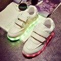 Ninas 7 Colores Zapatillas de Deporte Para Niños de Carga USB Luminoso Iluminado Moda Zapatillas Boy/Niñas Colorido LED Niños tamaño de Los Zapatos 25-34