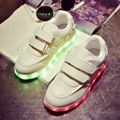 Ninas 7 Colors Kids Sneakers USB Charging Luminous Lighted Fashion Sneakers Boy/Girls Colorful LED Children Shoes size 25-34