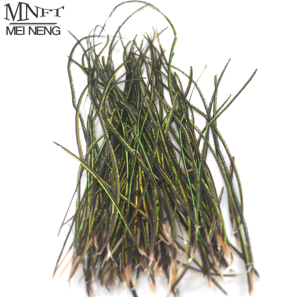 MNFT 1 Bag Peacock Feather Wire Fly Tying Material With Olive Green Color Fly Fishing Lure Bait mnft 10 colors select 0 3mm 30m copper wire fly fishing lure bait making material midge larve nymph fly tying material