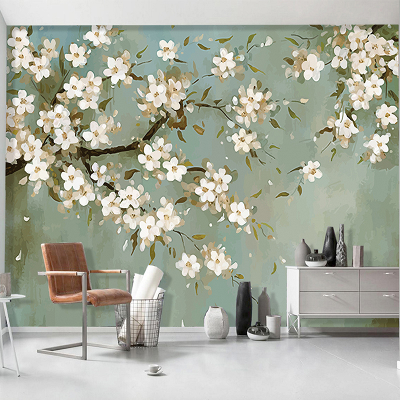 European Style Hand Painted Pastoral Orchid 3D Wall Mural Wallpaper Living Room TV Sofa Study Background Wall Papers Home Decor geography of south africa mural wallpaper 3d in european style living room tv wall background 3d wallpapers for walls