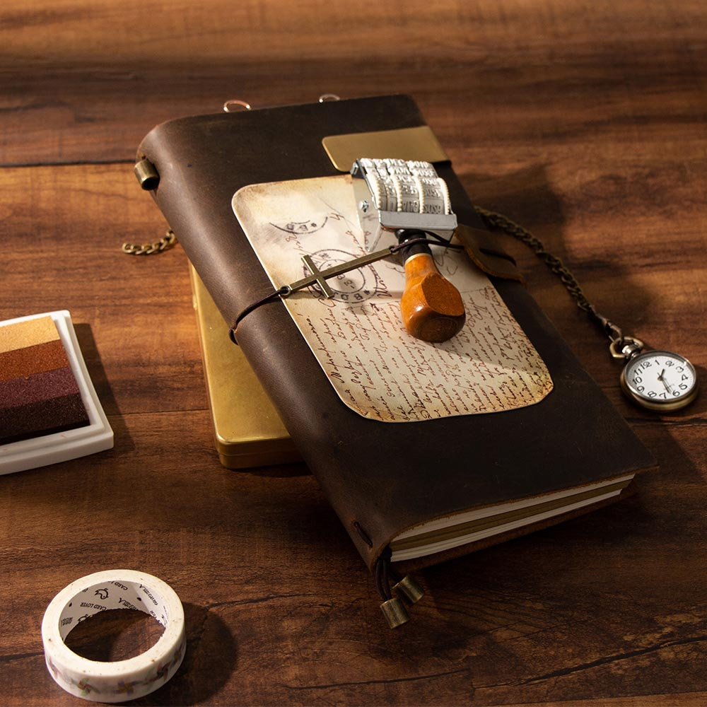 2020 The Vampire Diaries Retro Vintage Genuine Leather Notebook Long Design Diary Bullet Journal Note Book Escolar Planner A5 A6