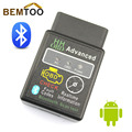 HH OBD MINI Diagnostic Tool  ELM327V2.1 Black Bluetooth OBD2 Car CAN Wireless Adapter Scanner TORQUE ANDROID,Free Shipping