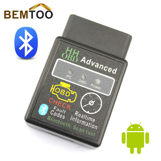 HH OBD MINI Diagnostic Tool ELM327V2 1 Black Bluetooth OBD2 Car CAN  Wireless Adapter Scanner TORQUE ANDROID,Free Shipping-in Code Readers &  Scan Tools