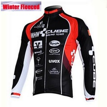 Polyester Winter Fleece Cycling Jersey mans Racing Bike cube Cycling Clothing MTB Cycle Clothes Wear Ropa Ciclismo Sportswear