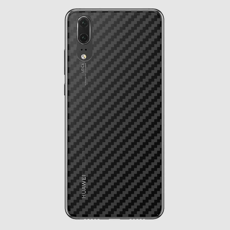 Film de protection de téléphone portable arrière 3D en Fiber de carbone ACCNIC 2 pièces pour Huawei P9 P9Plus P10 P10Plus P20 P20Pro P20lite Film arrière de téléphone
