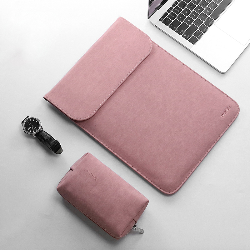 New Scrub PU Leather Sleeve Laptop Bag <font><b>15.6</b></font> 14 For Macbook Air 13 Case <font><b>Pro</b></font> 11 12 15 Matte Cover For <font><b>Xiaomi</b></font> <font><b>Mi</b></font> <font><b>Notebook</b></font> 12.5 13.3 image