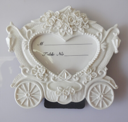 Heart Wedding Table Name Place Cards Holder Cute Carriage Resin ...