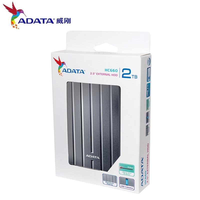 Externe Festplatten Adata Ex Hd Usb 3.0 2,5 hdd Tragbare Externe Festplatte 1 Tb 2 Tb Usb 3.0 Hc660 External Hard Stick Für Desktop Laptop Computer & Büro