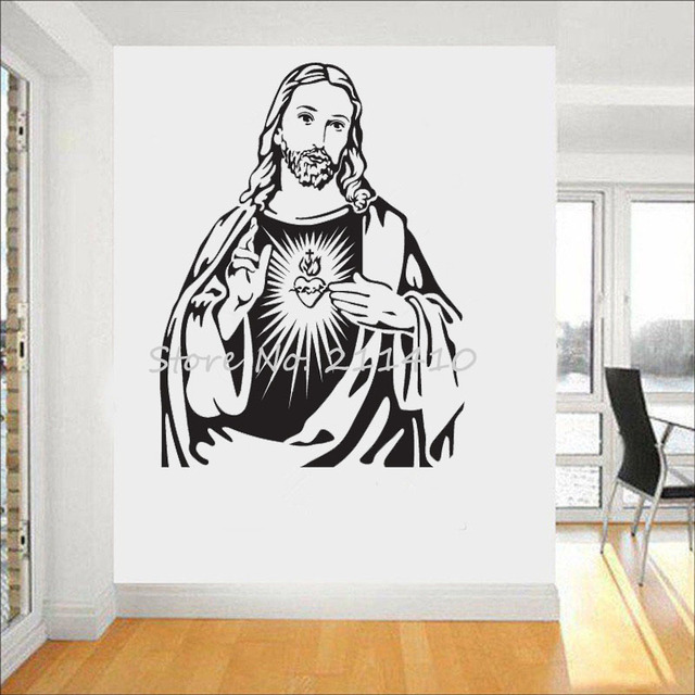 The heart of Jesus Christ Portrait Wall Stickers Home Decor Living Room 3d Poster Classic Jesus  sc 1 st  AliExpress.com & The heart of Jesus Christ Portrait Wall Stickers Home Decor Living ...