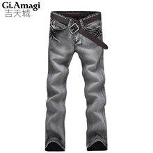 Four Seasons Носить джинсы мужчин Высокого качества прямые джинсы известный бренд брюки мужчины мужчины хлопок моде Джинсовые Брюки Брюки
