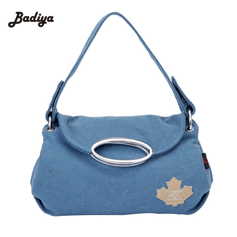 Solid Canvas Shoulder Bag Brief Design Womens Crossbody Bags For Woman Large Capacity Casual Korean Style Handbag women handbag shoulder bag messenger bag casual colorful canvas crossbody bags for girl student waterproof nylon laptop tote